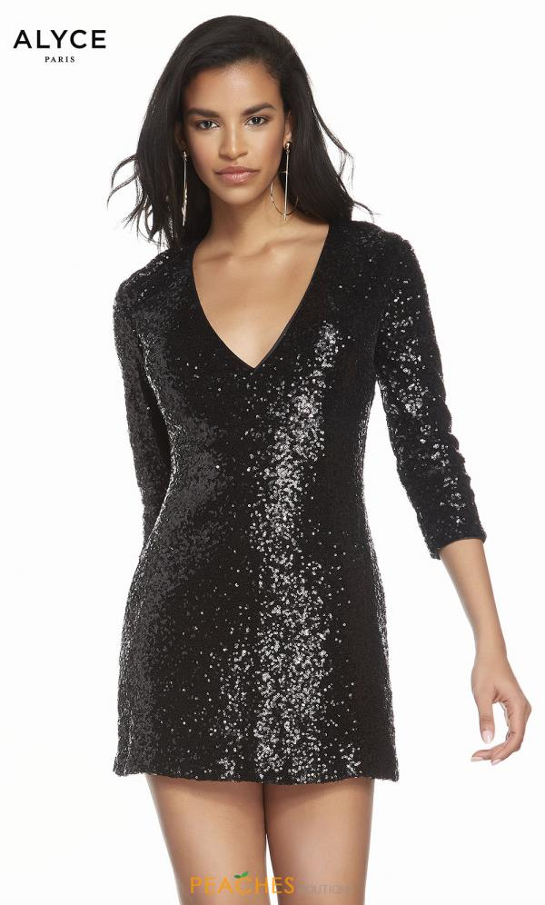 Alyce Paris Long Sequins Dress 4210