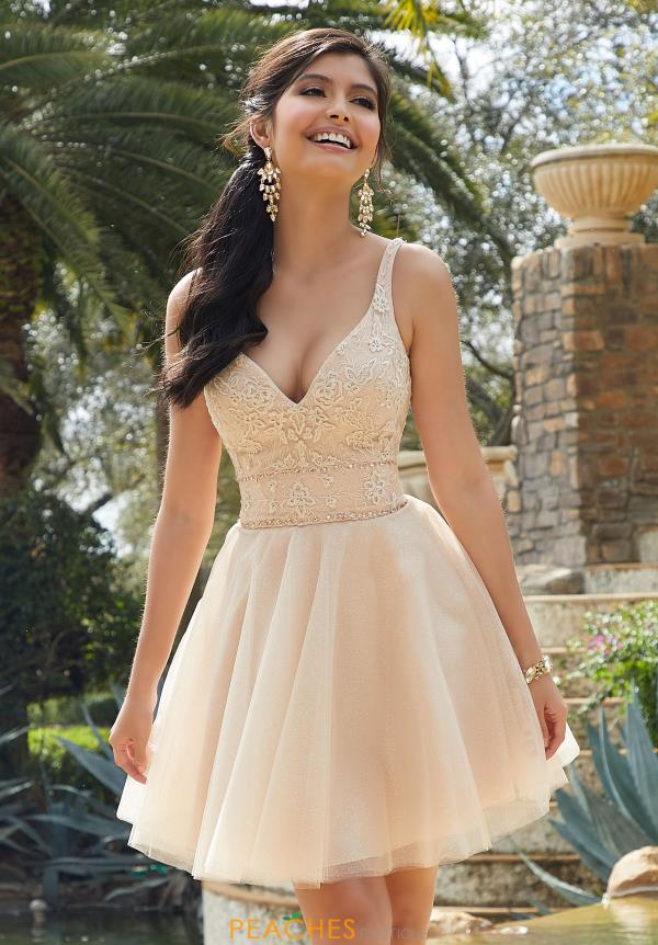 Mori Lee Sticks & Stones Tulle Skirt Short Dress 9518
