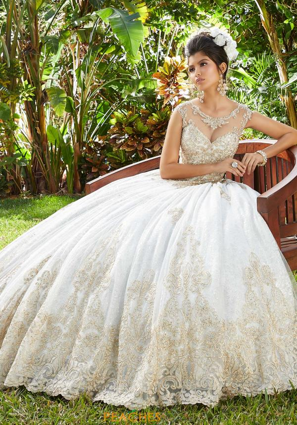 Vizcaya Quinceanera Lace Ball Gown 34013