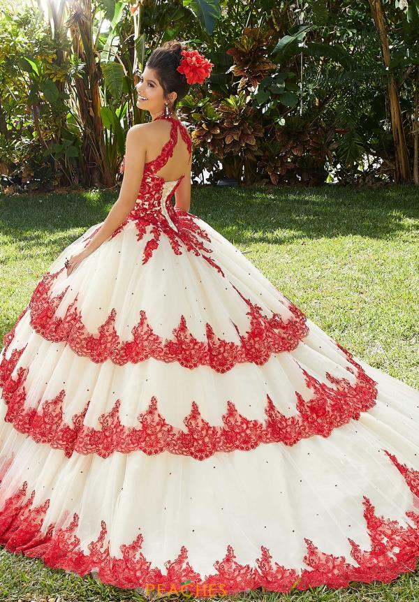 Vizcaya Quinceanera High Neckline Beaded Gown 34014
