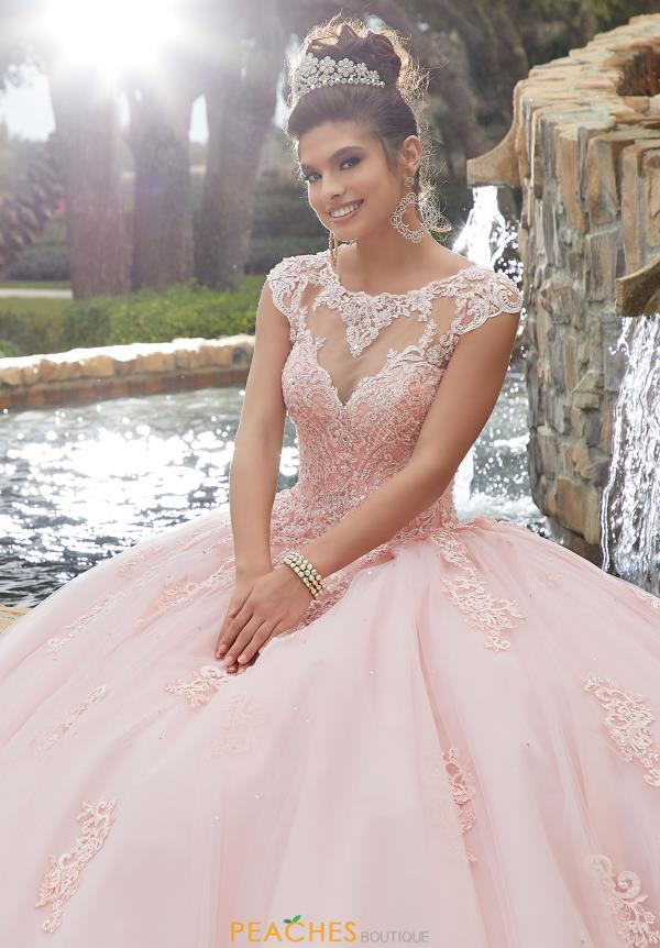 Vizcaya Quinceanera High Neckline Beaded Gown 60092