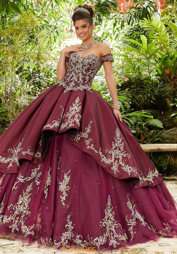 Vizcaya Quinceanera Satin Beaded Gown 89241
