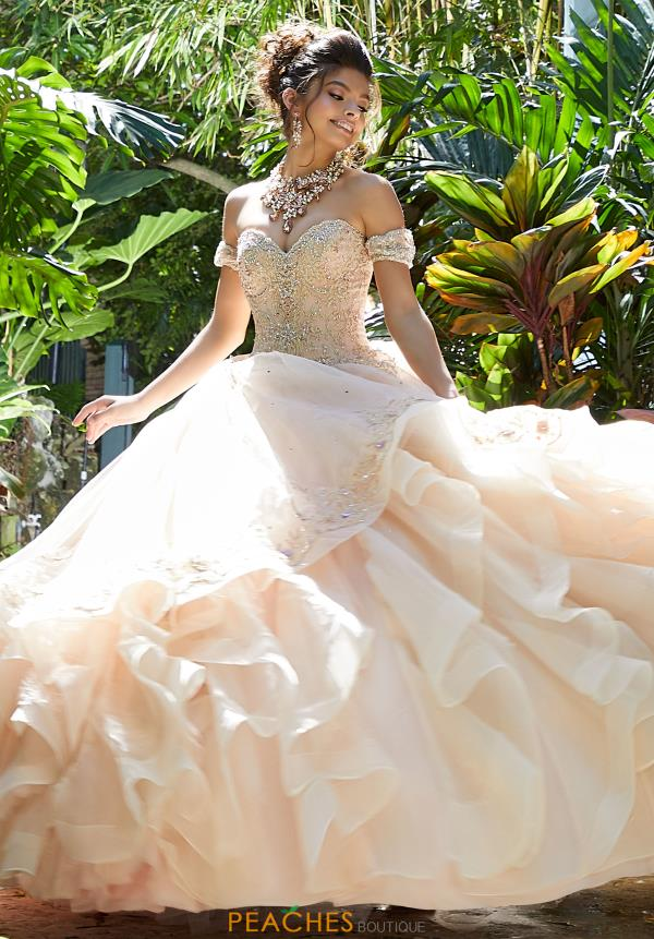 Vizcaya Quinceanera Beaded Starpless Gown 89247
