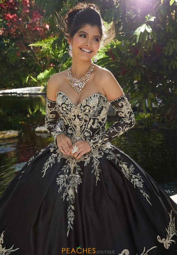 Vizcaya Quinceanera Sleeved Beaded Ball Gown 89248