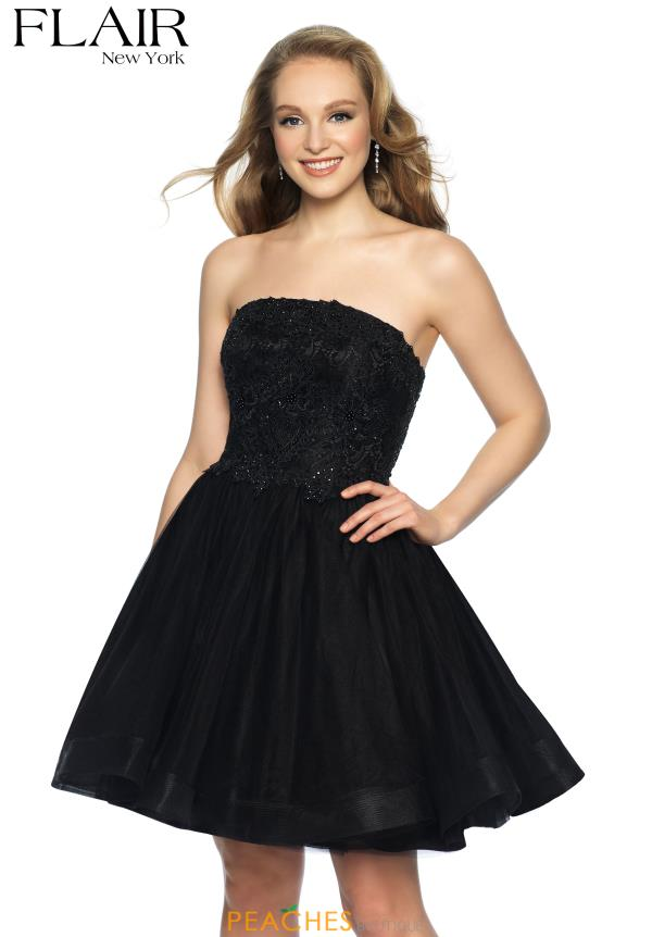 Flair Strapless A Line Dress 19303