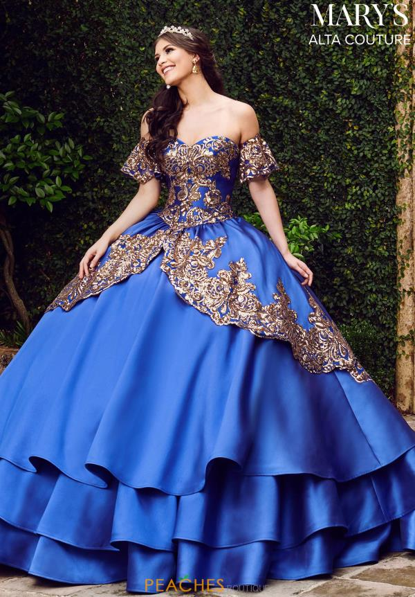 Mary's Lace Back Ball Gown MQ3030