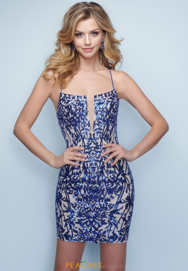 Splash Sequins Fitted Dress E827