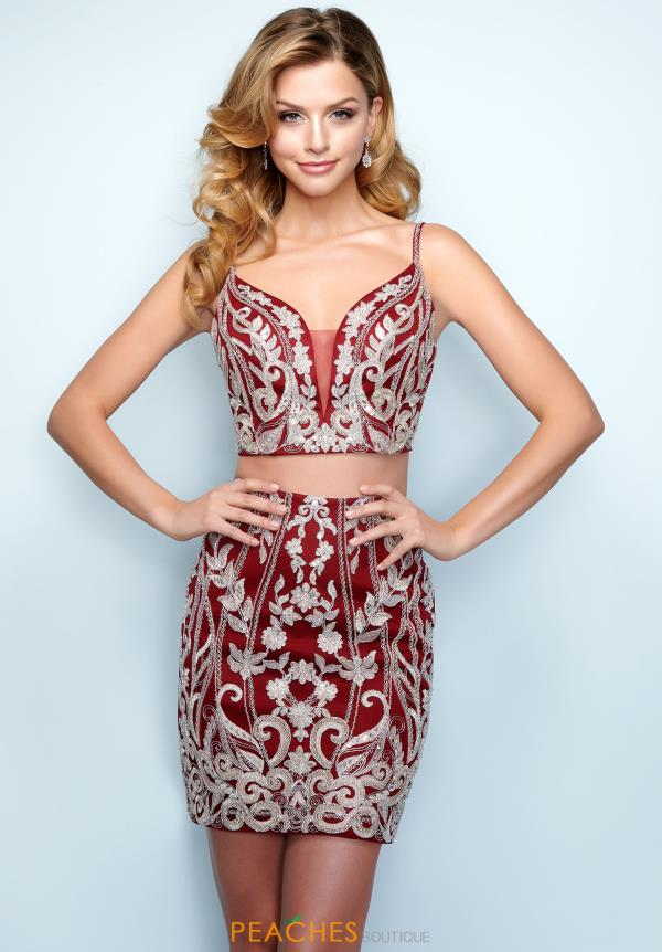 Splash Two Piece Beaded Dress E829