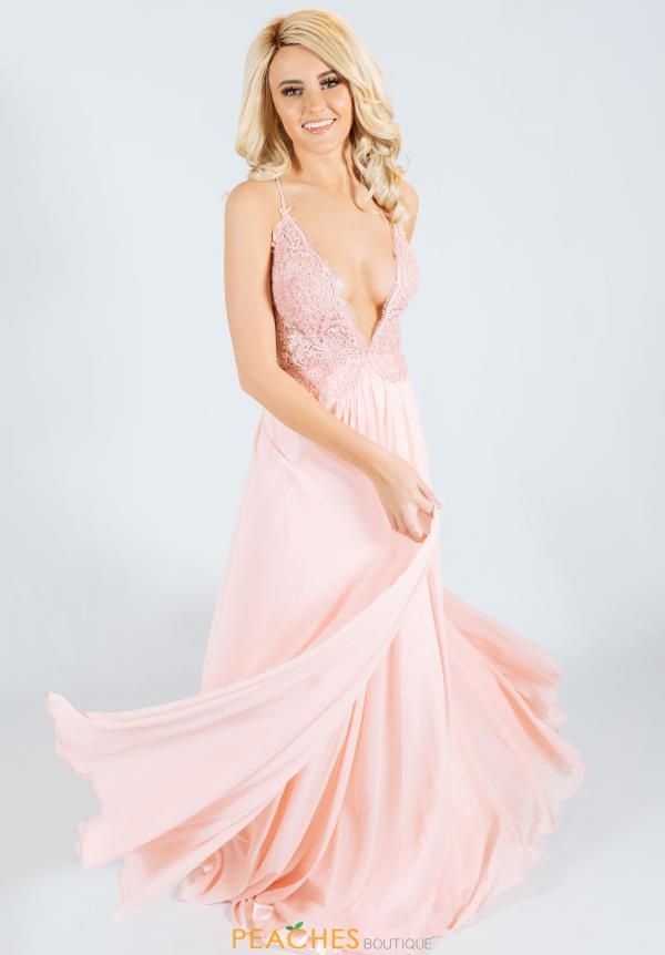 Jasz Couture Long A Line Dress 6485