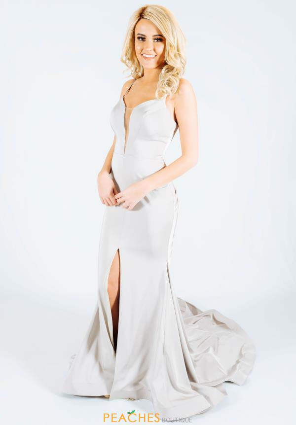Jasz Couture Long Jersey Dress 6497