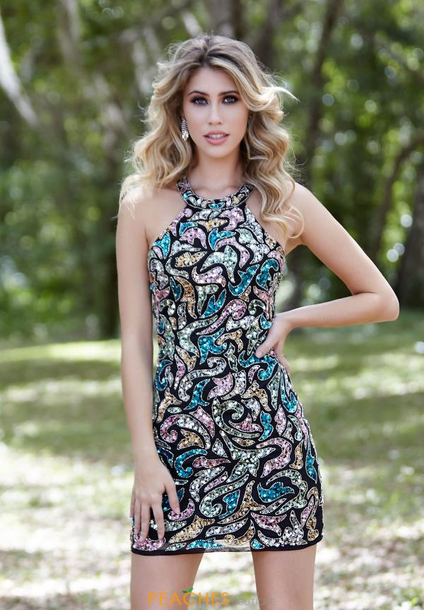 Primavera Short Beaded Dress 3344