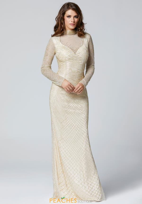 Primavera Long Sleeved Fitted Dress 3370