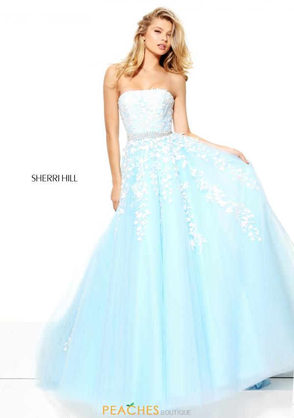Strapless A Line Sherri Hill Dress 50864