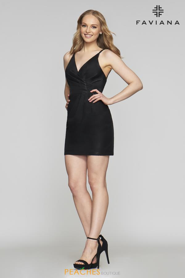 Faviana V- Neckline Short Dress 10352