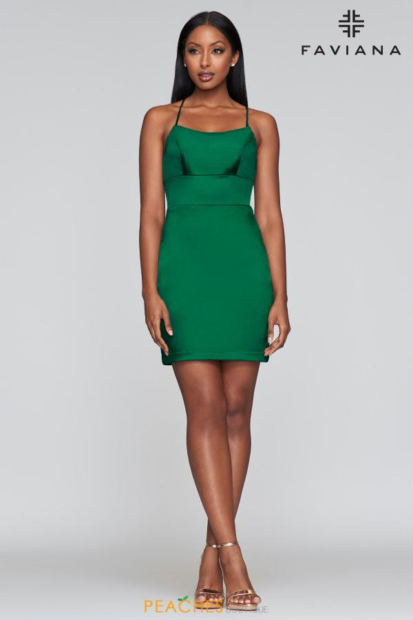 Faviana Short Fitted Dress S10359