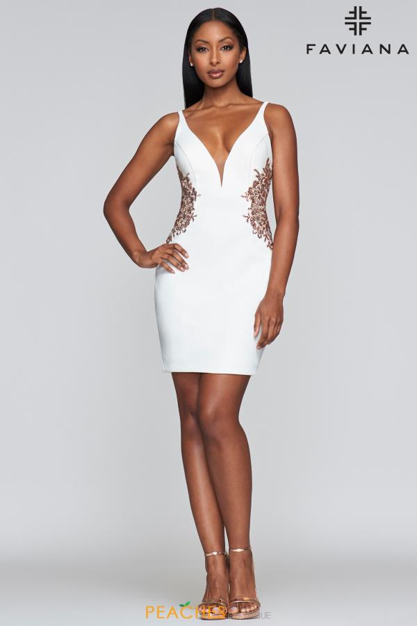 Faviana V- Neckline Fitted Dress S10371