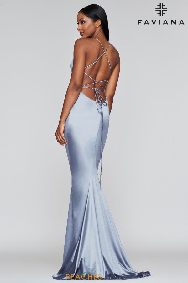 Faviana Sexy Open Back Long Dress S10375