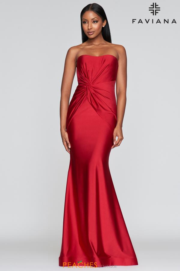 Faviana Fitted Long Dress S10381