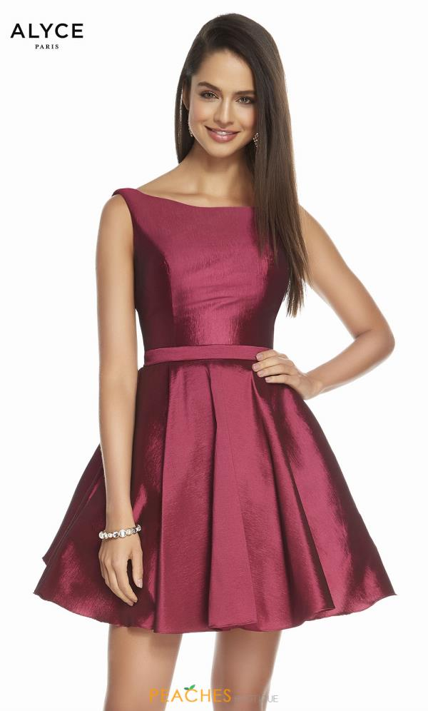 Alyce Paris High Neckline A Line Dress 1449