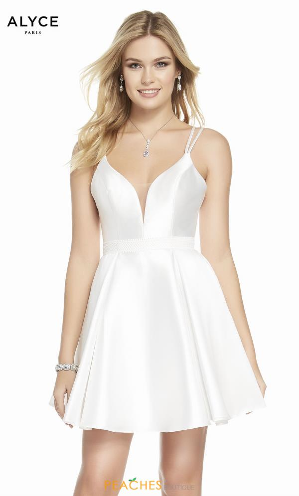 Alyce Paris V- Neckline A Line Dress 1453