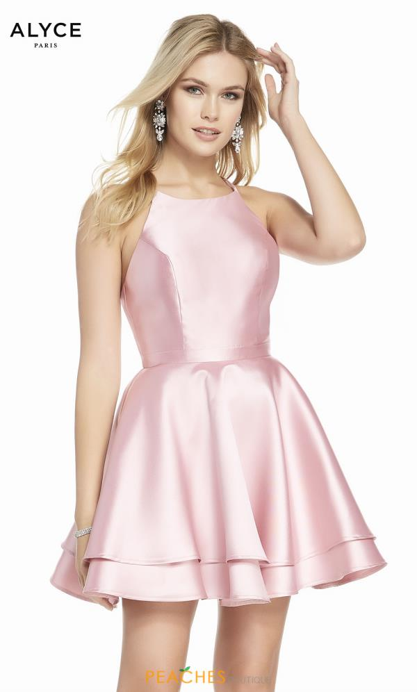 Alyce Paris High Neckline A Line Dress 1457