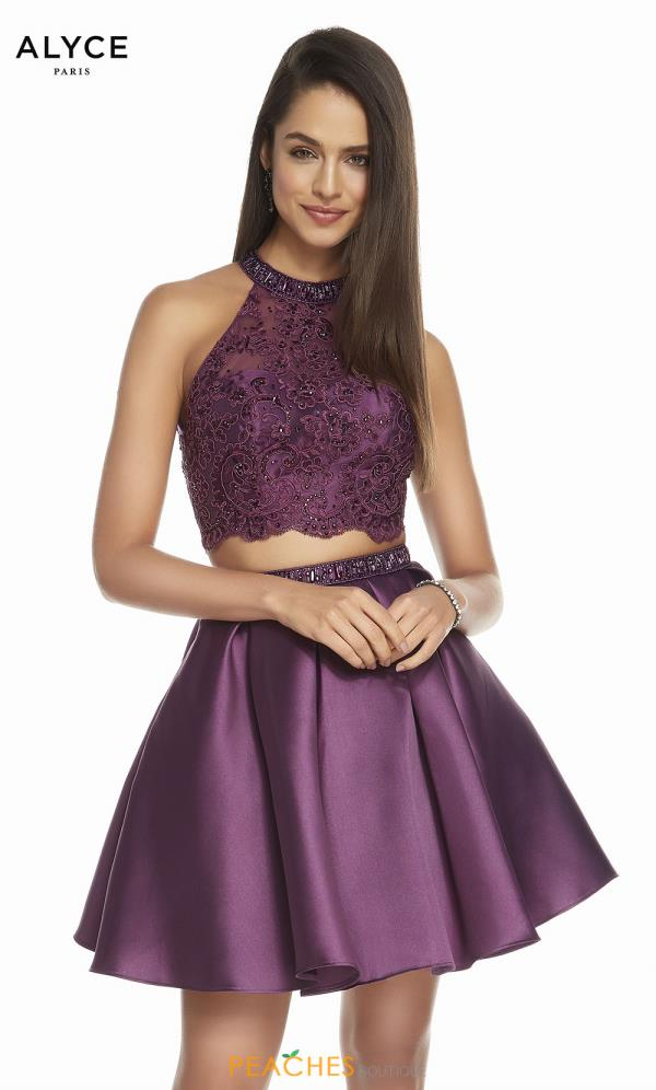 Alyce Paris Two Piece A Line Dress 1488
