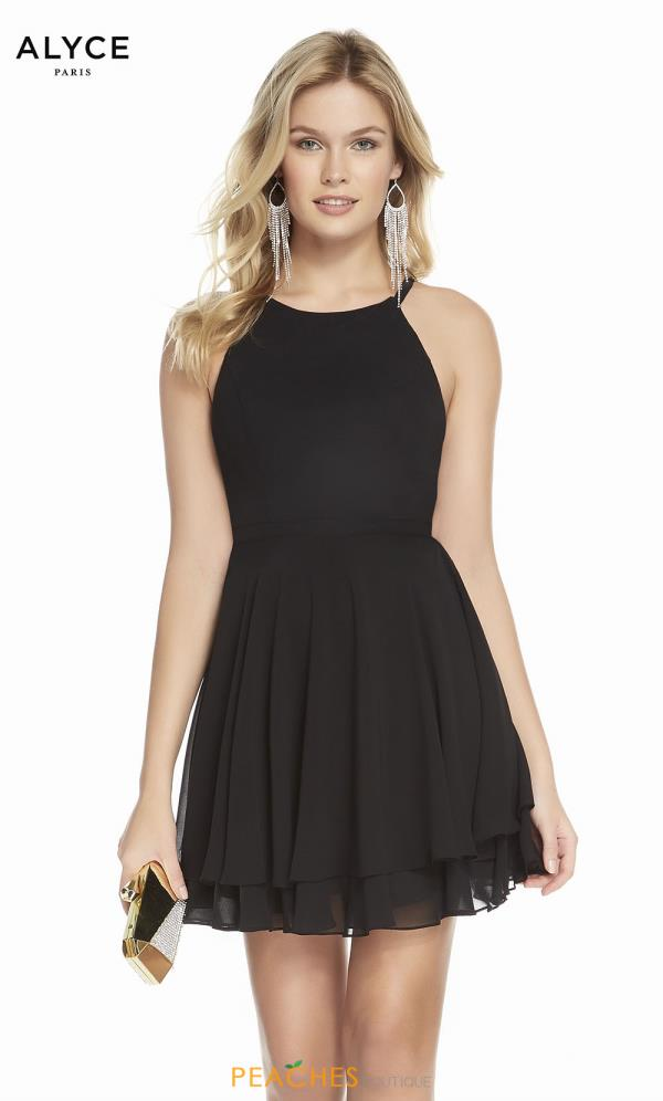 Alyce Paris Short Black Dress 1491