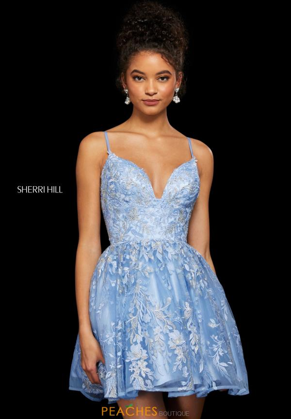 Sherri Hill Short V- Neckline A Line Dress 53074
