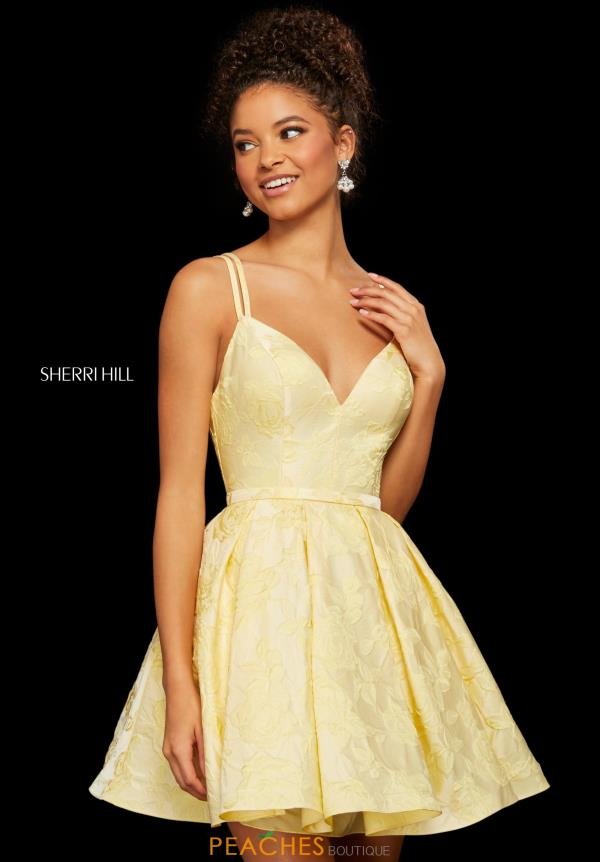 Sherri Hill Short A Line Lace Dress 52983