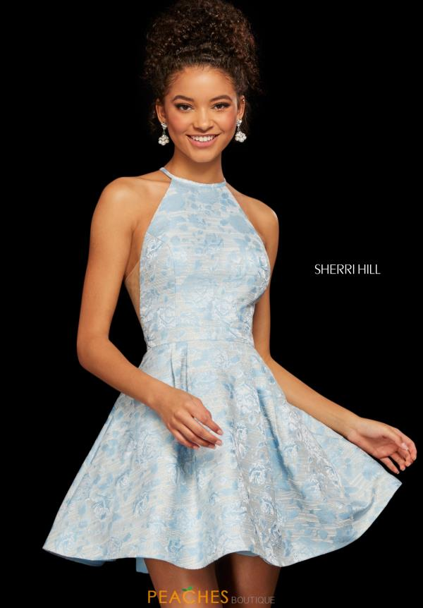 Sherri Hill Short Lace A Line Dress 53022