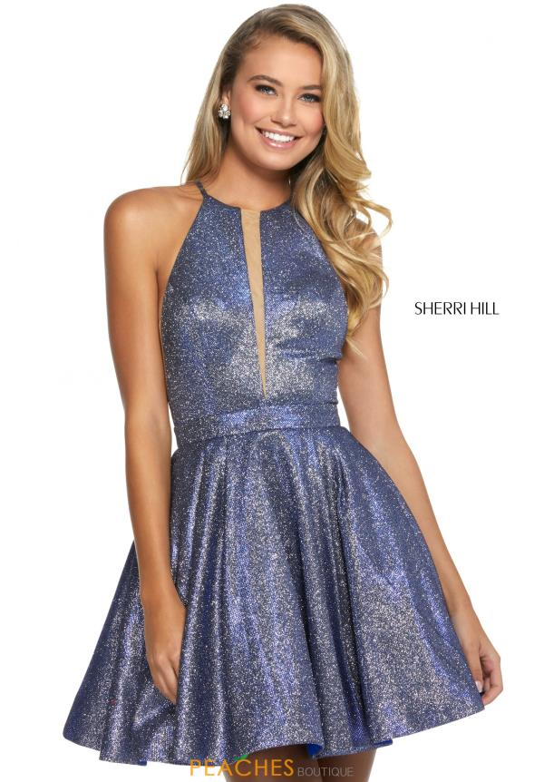 Sherri Hill Short High Neckline A Line Dress 53027