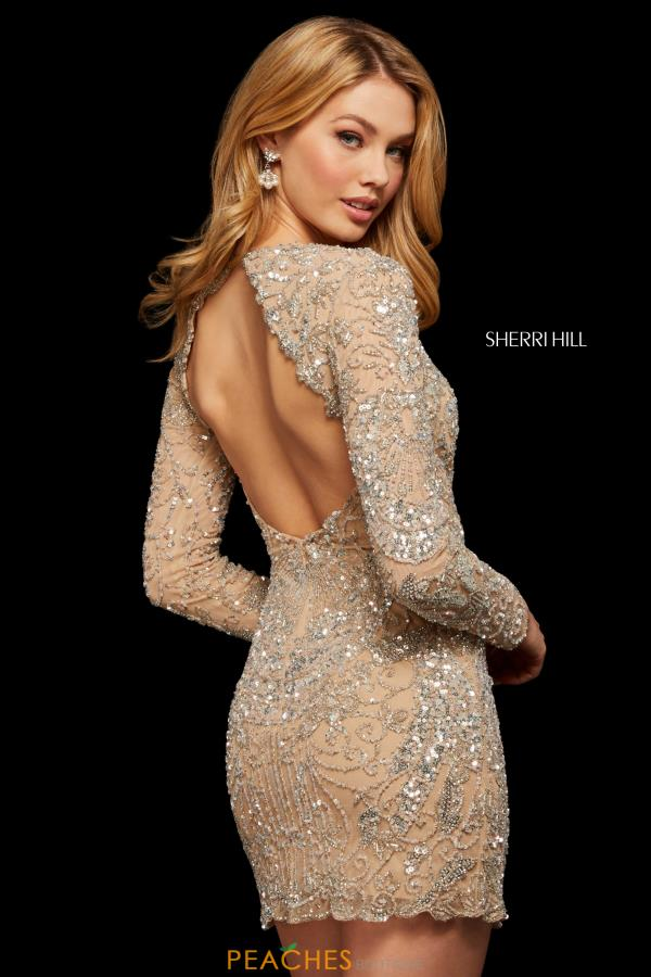 Sherri Hill Short Sexy Open Back Dress 53056
