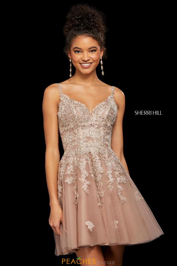 Sherri Hill Short Lace A Line Dress 53098