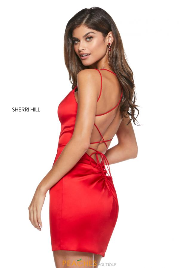 Sherri Hill Short Sexy Open Back Dress 53201