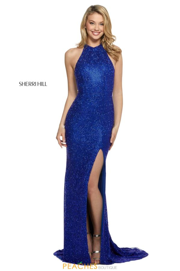 Sherri Hill High Neckline Beaded Dress 53131