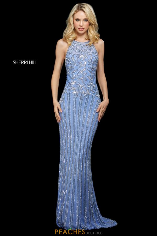 Sherri Hill High Neckline Beaded Dress 53132