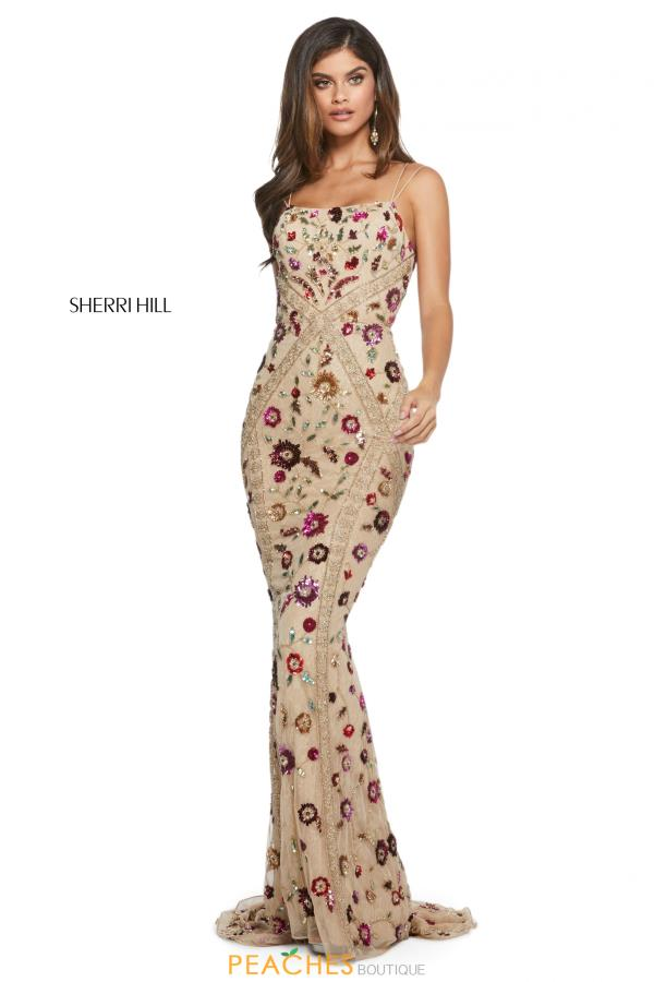 Sherri Hill Long Beaded Dress 53134