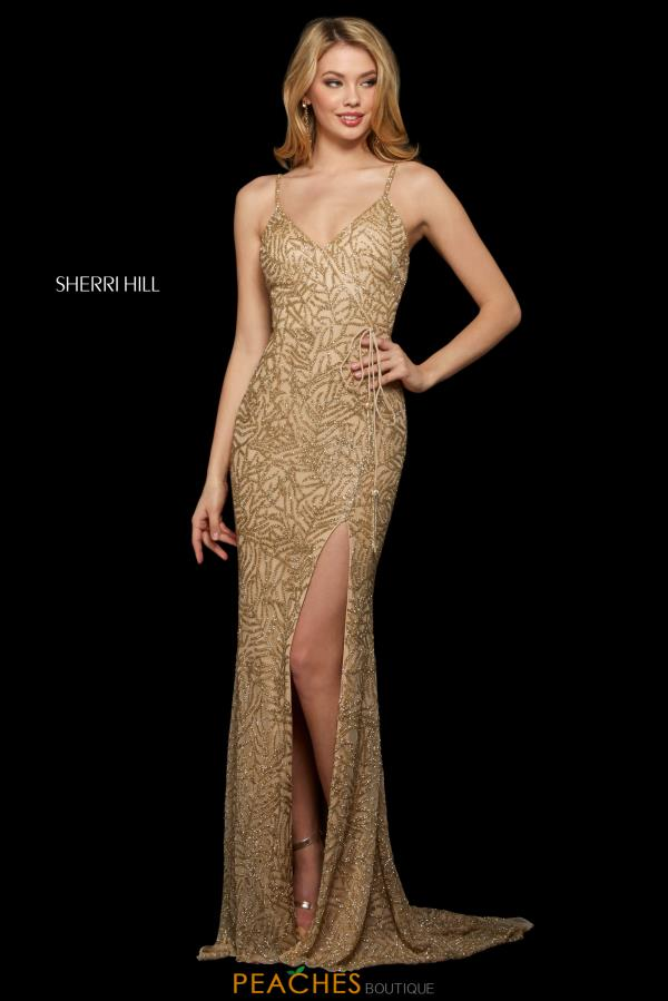 Sherri Hill Long Beaded Dress 53162