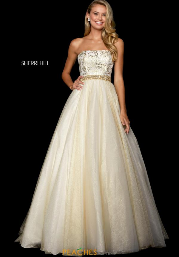 Sherri Hill Strapless A Line Dress 53256