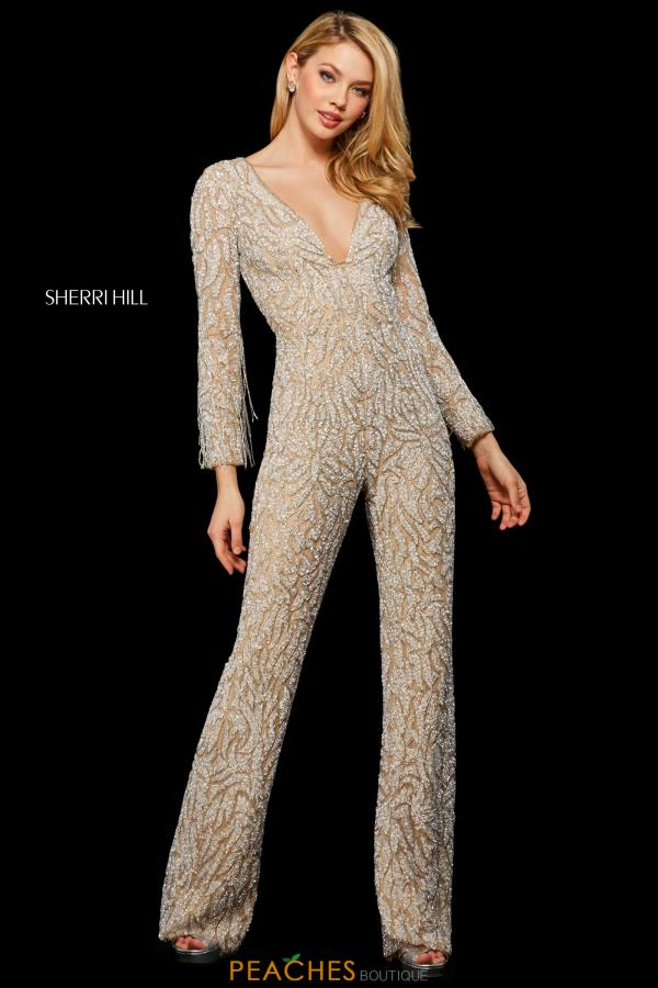 Sherri Hill Long Sleeved Pant Suit 53277