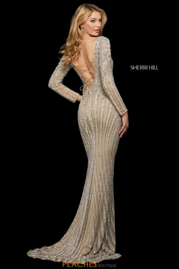Sherri Hill Sleeved Fitted Dress 53292