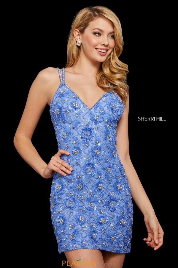 Sherri Hill Short Beaded V- Neckline Dress 53053