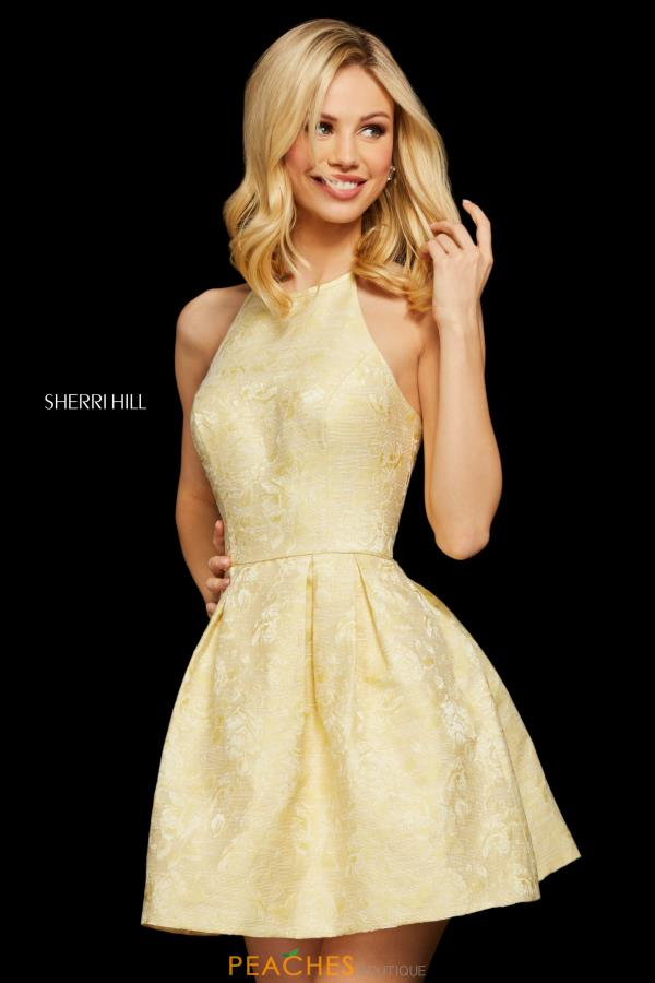 Sherri Hill Short Halter Top A Line Dress 53072