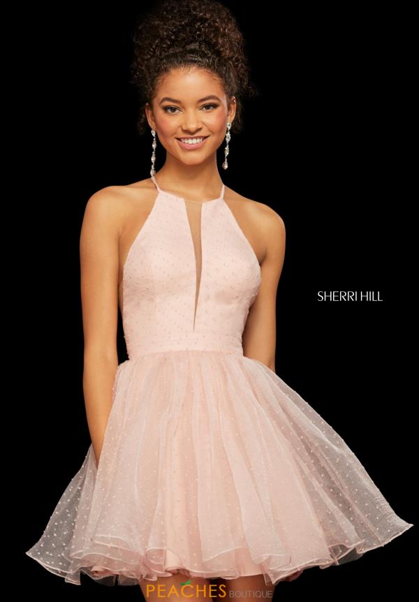 Sherri Hill Short High Neckline A Line Dress 53075
