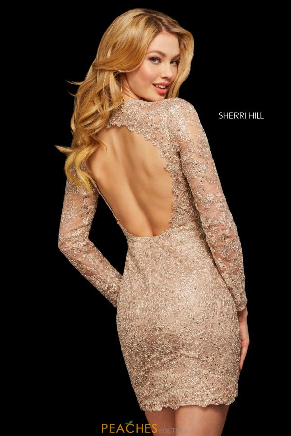 Sherri Hill Short Sleeved Lace Dress 53101