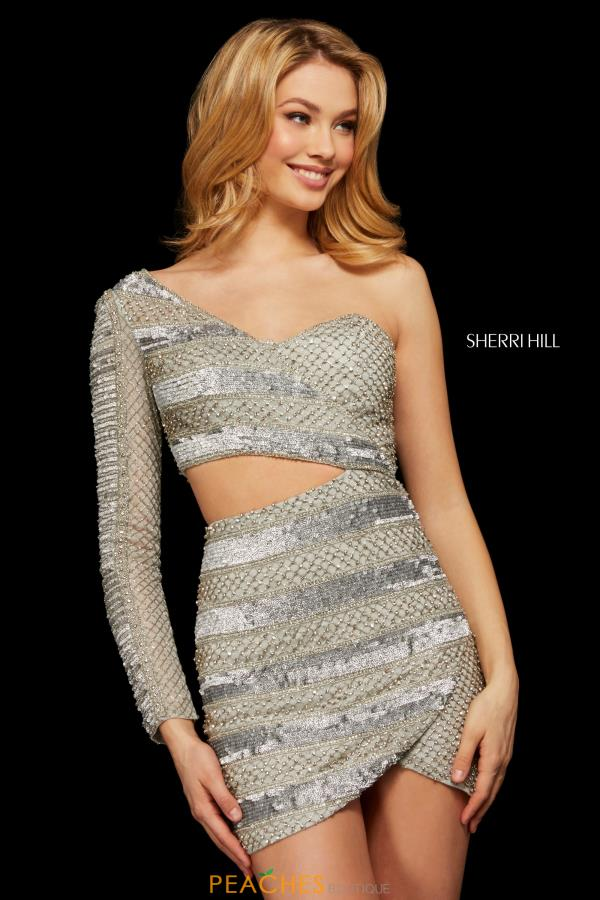 Sherri Hill Short Two Piece Sequins Dress 53117