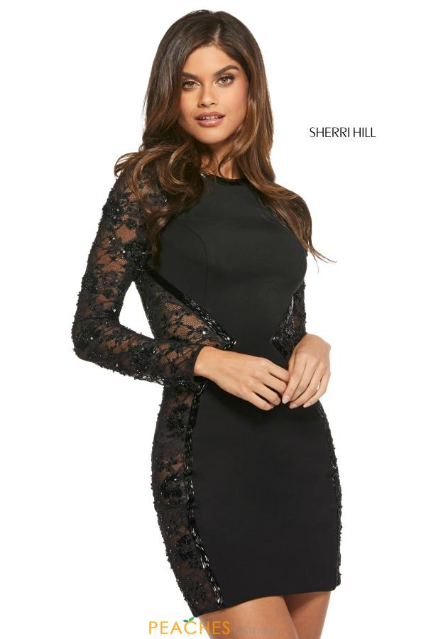 Sherri Hill Short Sleeved Fitted Dress 53190