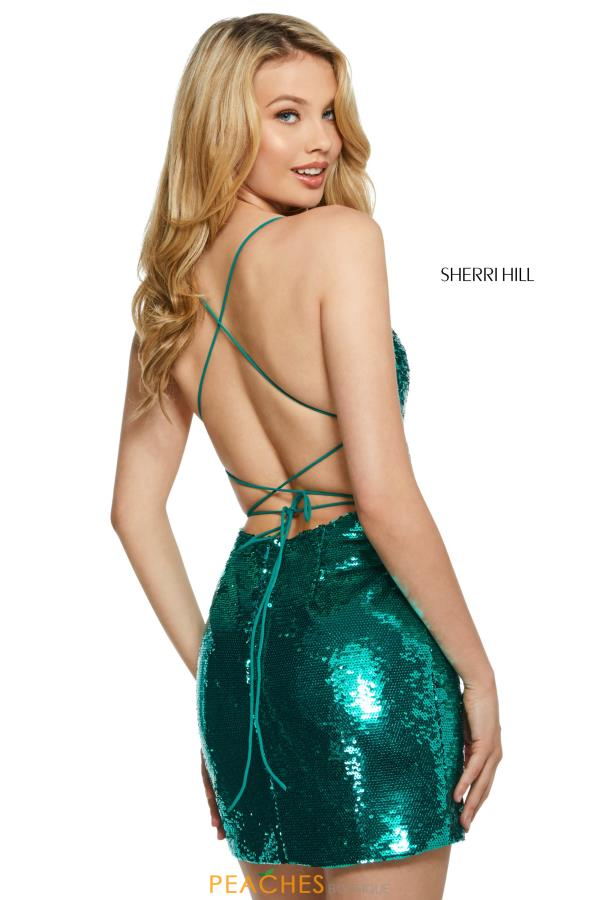 Sherri Hill Short Open Back Fitted Dress 53238