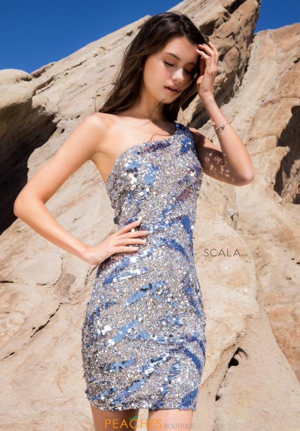 Scala Short Fitted Dress 60058