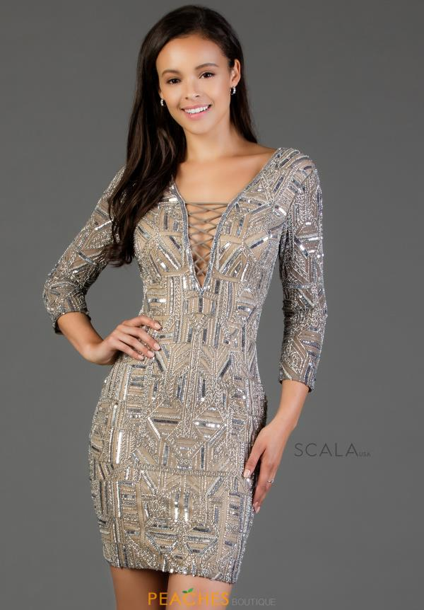 Scala Long Sleeved Fitted Dress 60068